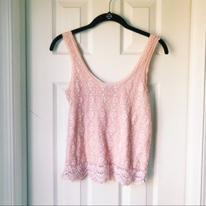 AE Pink Lace Tank